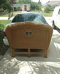brown wicker bed headboard 833 mi