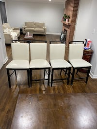 4 Creme and brown Bar chairs Suitland, 20746