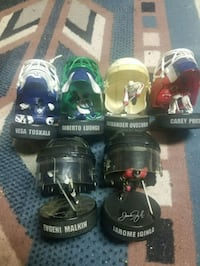 two black and green paintball masks Langley