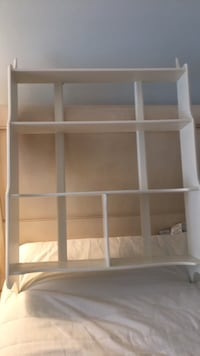 white wooden 3-layer shelf 27 km