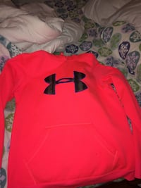 Coral under armour pullover hoodie