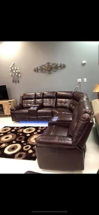Power Reclining Sectional With L.E.D Lights New York, 11435