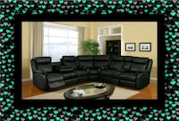 C shape sectional black bonded leather Washington, 20002