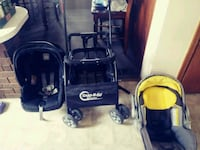 Snap and go stroller with 2 car seats and bases Ailsa Craig, N0M 1A0
