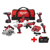 Milwaukee M18 Cordless Combo Kit 7 Tool null