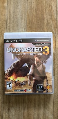 Uncharted 3 Drake's Deception PS3 game case