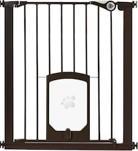 Tall Pet Gate / Baby Gate with pet passage