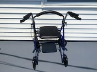 Black leather rollator Waverly, 45690