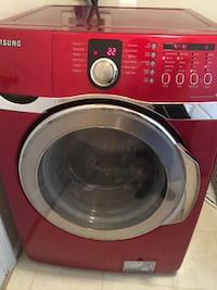 red and silver Samsung front load washing machine Indian Head, 20640