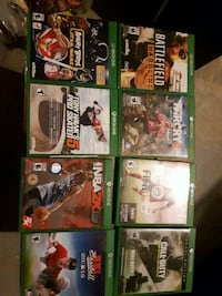 nine Xbox One games Otterville, N0J 1R0