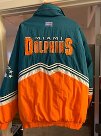 Miami dolphin jacket by pro line size Exter large Las Vegas, 89113