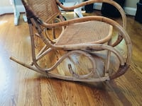 Vintage Bentwood Bamboo Rocking Chair Franklin, 37064