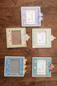 Pictures frames for baby nursery