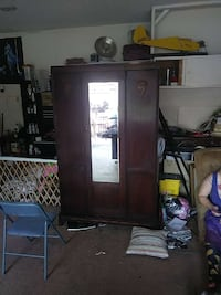 brown wooden glass cabinet Arlington, 76015