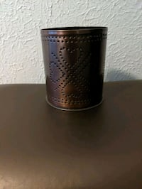 Homemade metal candle holder Irish clover hearts South Bend