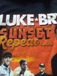 Luke Bryan Country Legend Sunset Repeat Tour Graphic T Shirt Oaklyn, 08107
