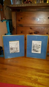 two blue and white photo frames Toronto, M3H