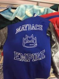 blue and black Maybach Empire jacket