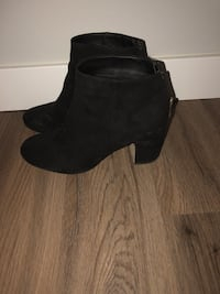 Black all suede women's boots, size 9.5 Toronto, M2N 6H8