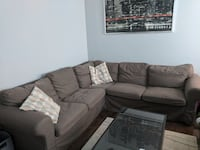 Ektorp sectional with storage brown cloth