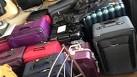assorted luggage baggs