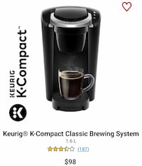 Keurig K-Compact Classic Brewing System Markham, L3R