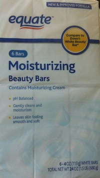 6 bars equate moisturizing beauty bars  Woodstock, 22664