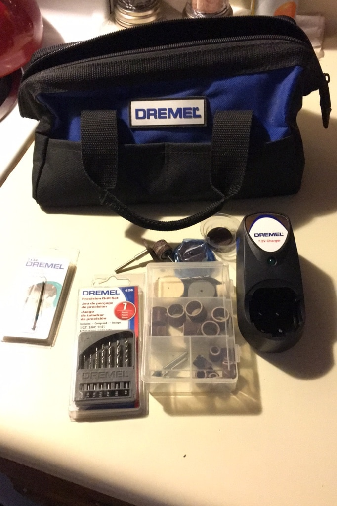 Photo Parts to a Dremel Drill Set