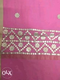 red and white floral textile Mumbai, 400078