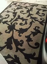 white and black floral area rug Spokane, 99207