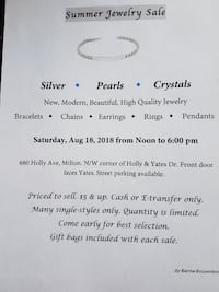 Fabulous 1 day Milton Jewelry Sale 18AUG Milton