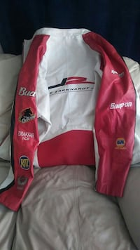 red and white Budweiser racing jacket Bowie, 20716
