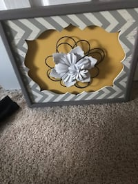 Yellow and gray flower wall decor  Keyport, 07735