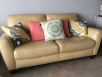 Yellow Leather loveseat Alexandria, 22314