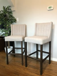 Chic grey upholstered high top bar chairs San Diego, 92115