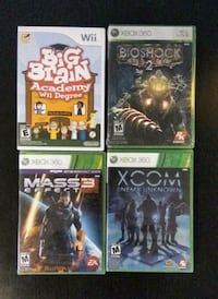 FACTORY SEALED GAMES! Nintendo Wii, Microsoft XBOX 360 New Westminster, V3M 3Y3