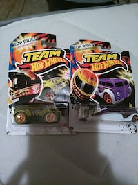 two green and purple Hot Wheels Team Top Rides toy packs 2242 mi