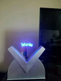 Collectible blue LED animation clock  1962 km