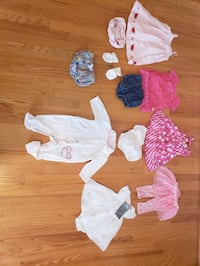 (about 10 items, 1 price for all) 3-6 month baby girl clothing Germantown, 20874