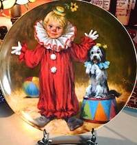 """""""TOMMY THE CLOWN"""" 1982 Porcelain First Issue Collectors Plate by Knowles Kansas City, 64118"""