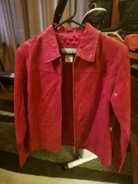 Red Suade/Leather Jacket size M Etna