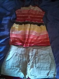 Juniors Arizona tank top and short size med
