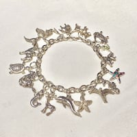 Genuine Sterling Silver Charm Bracelet Ashburn