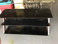 Black wooden 3-layer tv stand Sterling Heights, 48314