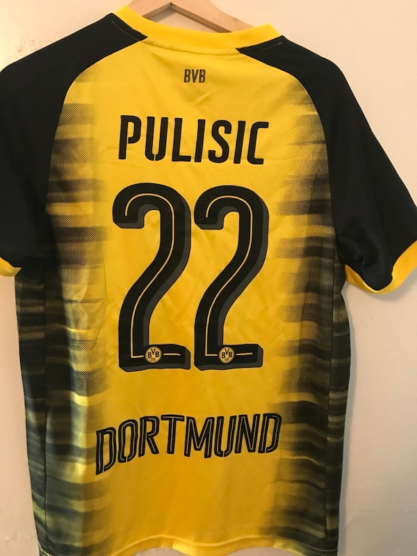 Used yellow and black Pulisic 22 dortmund jersey shirt for sale in Compton  - letgo 779f29f6e