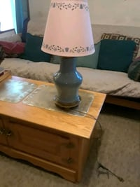 Blue metal lamp  .could paint any color you would  Littlestown, 17340
