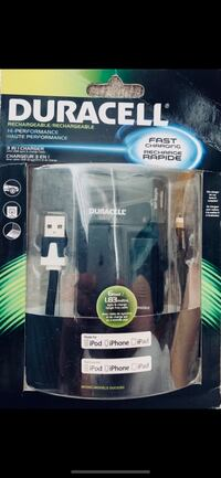 DURACELL Hi-PERFORMANCE Rechargeable 3 IN 1 CHARGER *BNIP*
