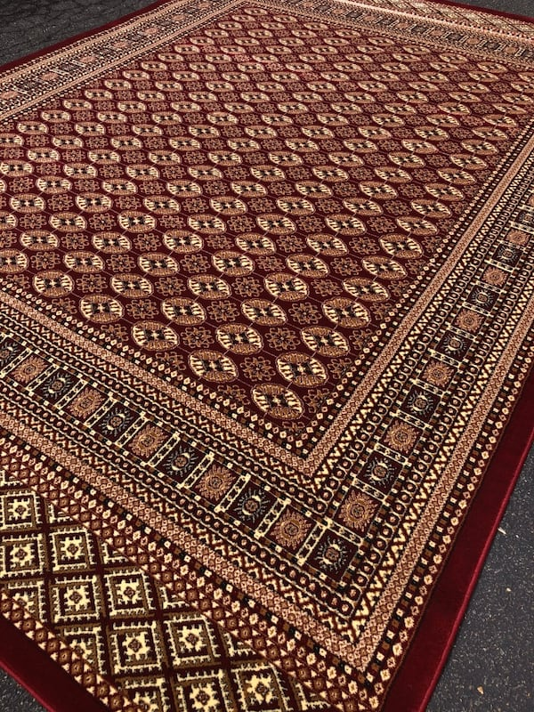 New bokhara rug size 8x11 nice red carpet persian style rugs ff502602-1cce-4080-a2c3-db9a34e307ac