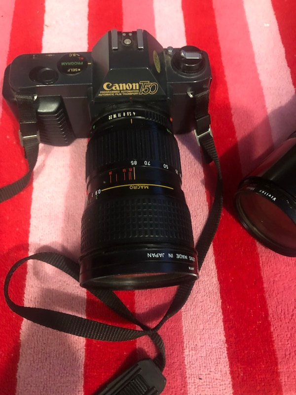 Canon T50 Camera with additional zoom lens