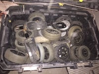 Gray rubber tires/casters Bakersfield, 93305